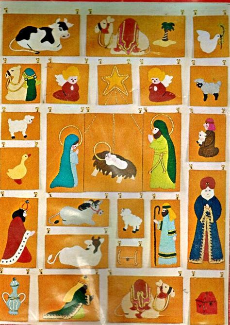 pattern for felt nativity advent calendar bucilla nativity advent calendar jeweled felt days til