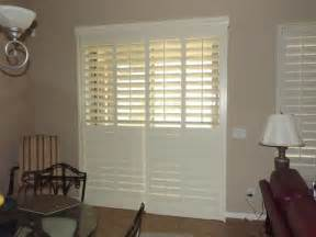 Patio Doors Phoenix Plantation Shutters On Sliding Glass Doors Traditional
