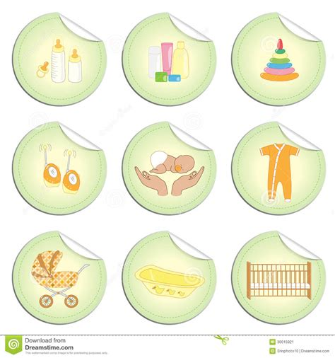 Baby Born Shower Bath newborn baby stickers 2 stock image image 30015921