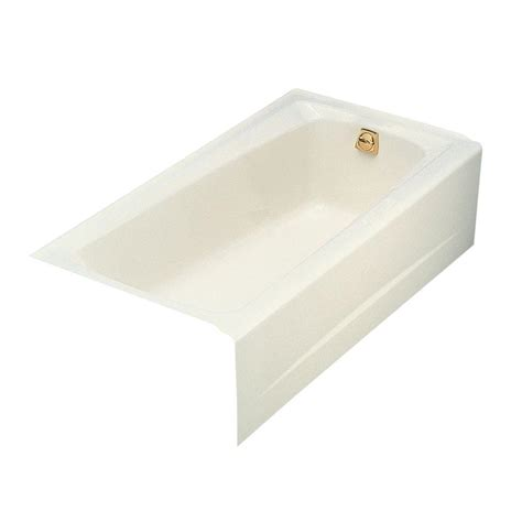 5 Foot Cast Iron Bathtub by Kohler Mendota 5 Ft Right Drain Integral Farmhouse Apron