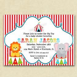 circus big top baby shower invitation printable by mommiesink