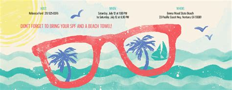 Summer Party Reminder pool party bbqs beach 4th of july invitations evite com