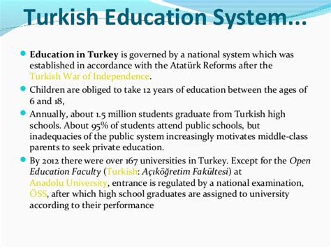 Ottoman Education System Education System In Turkey 1