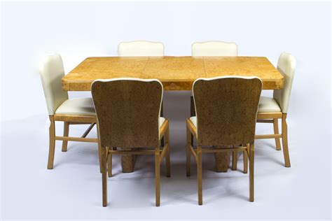 art deco dining table and six chairs at 1stdibs antique art deco dining table chair set art deco