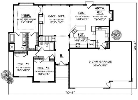 3 bedroom ranch floor plans 3 bedroom ranch style floor plans decorating ideas