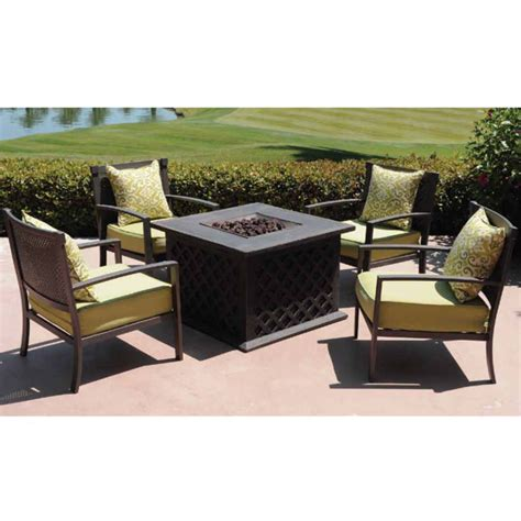 Patio Furniture With Pit by Patio Set With Pit Table Patio Design Ideas