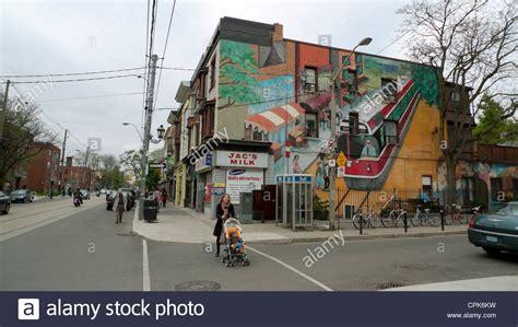 roncesvalles avenue toronto ontario canada stock photo