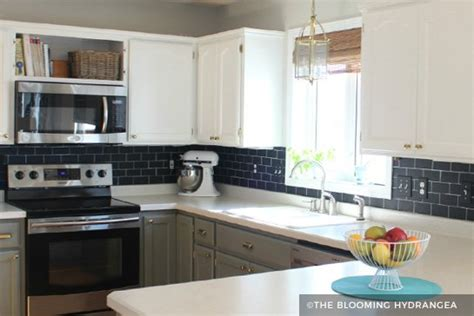 Painting Kitchen Cabinets Black Before And After by Painting Kitchen Cabinets Before After