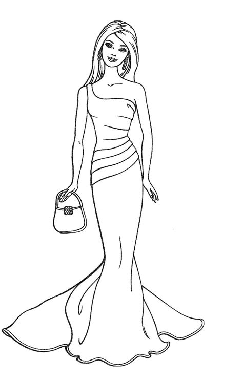 easy barbie coloring pages barbies doll sketch images simple barbie dolls sketch