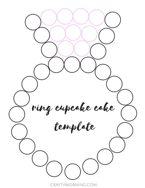 wedding ring template ring engagement cupcake cake crafty morning