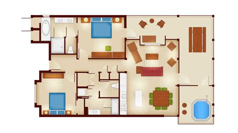 disney floor plan copper creek villas and cabins at disney s wilderness lodge rooms and floor plans photo 3 of 12