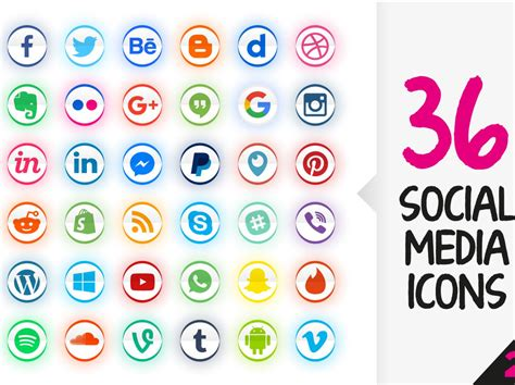 Free Social Media Search Free Vector Social Media Icons Set Driverlayer Search Engine