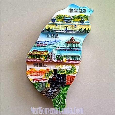 jual souvenir magnet kulkas peta taiwan