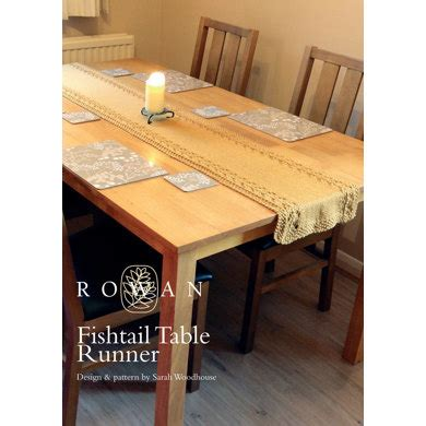 fair isle table runner fishtail table runner in rowan wool worsted
