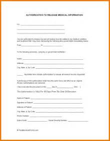 Information Release Form Template by Doc 575709 Information Release Form Template Release