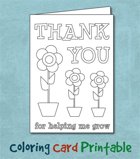 printable thank you cards to color for teachers printable coloring thank you cards for teachers homework