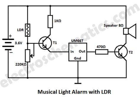 resistor detector circuit light alarm circuit with ldr