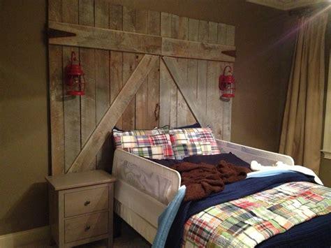 barn door bed barn door headboard yes master pinterest