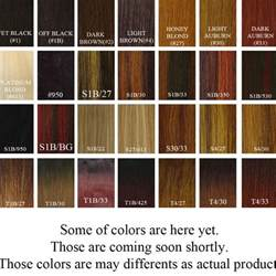 hair colors chart hair color for american hair