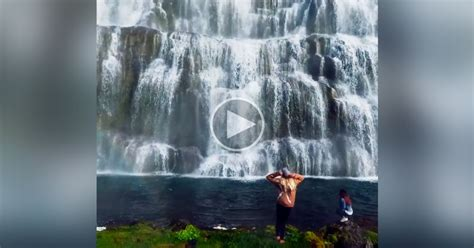 dynjandi     beautiful waterfall  iceland