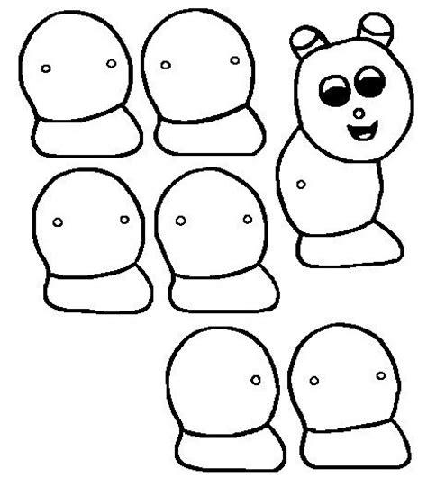imagenes navideñas para armar y colorear marioneta de gusano para colorear pintar y armar dibujo