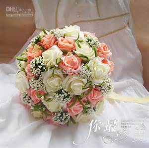 Fake Flower Bouquets New Style Bouquet Tied Rose Bridal Wedding Bouquet With
