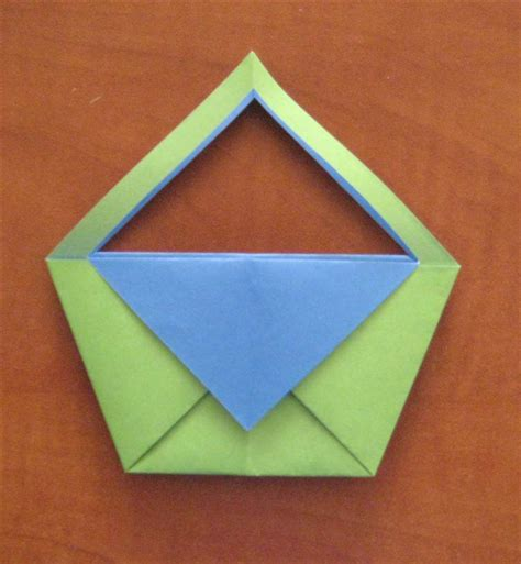 Folded Paper Basket - how to fold an origami basket origami for