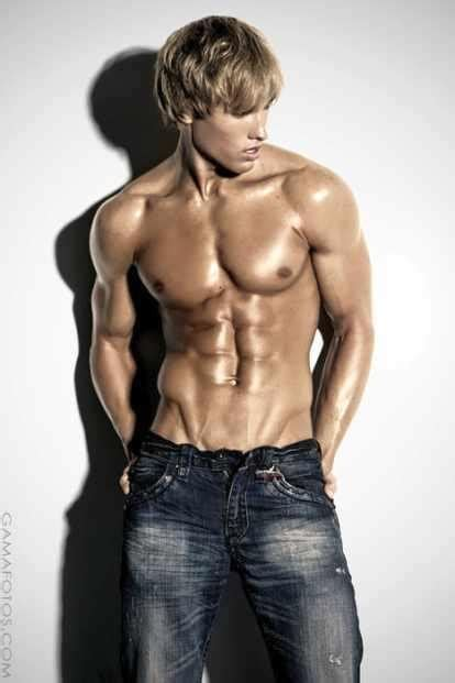 model for chico blonde kyle hill cute low bodyfat tanned blond male model