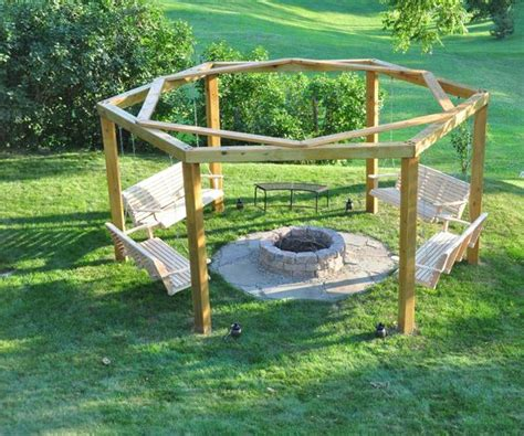 Backyard Creations Swing Away Grill Porch Swing Pit Pits Pit Swings And