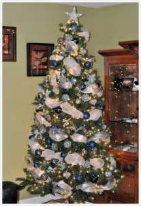 engaging christmas tree decorated in silver and blue color