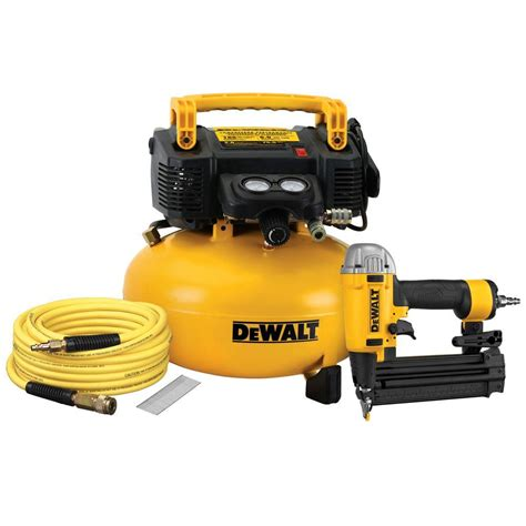 dewalt 18 brad nailer and 6 gal heavy duty pancake