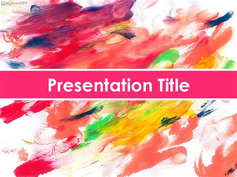 Free Watercolor Painting Texture Powerpoint Template Download Free Powerpoint Ppt Painting Template Free