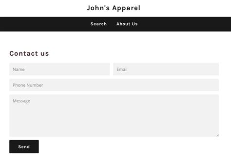 shopify themes with contact form add a contact page forms shopify help center
