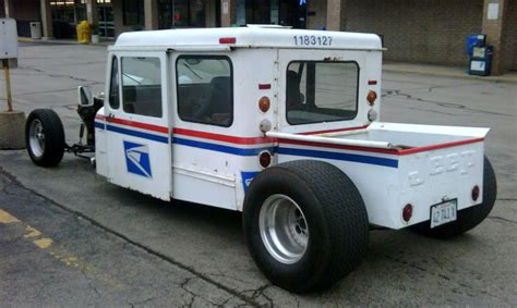 postal vehicles just a car guy someone in illinois has a cool rat rod