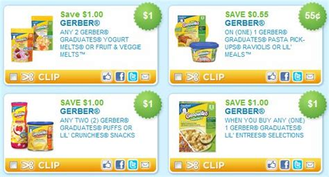printable recipes for baby food gerber baby food printable coupons a thrifty mom