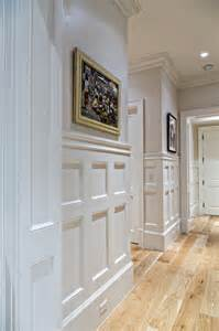 Narrow Bathroom Ideas coastal wainscoting hallway detail traditional hall