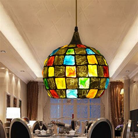 colorful pendant lights colorful glass shade decorative large pendant lights