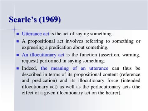 Searle 1969 Speech Acts An Essay In The Philosophy Of Language by Another Frameworks