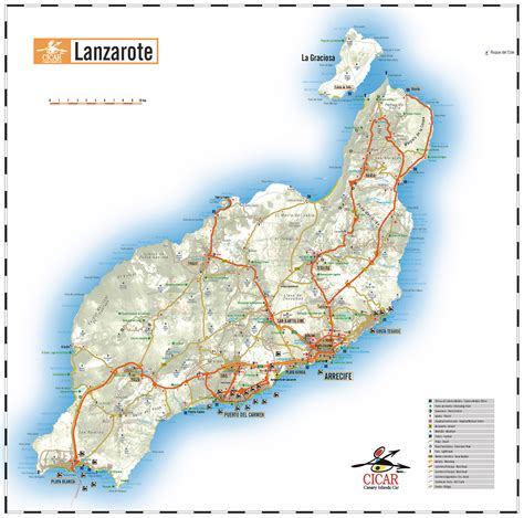 map of canary islands car hire in lanzarote car rental in lanzarote