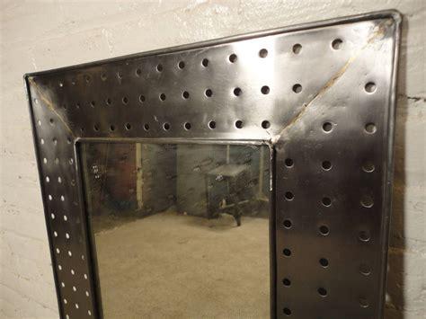 industrial metal mirror industrial style metal mirror at 1stdibs