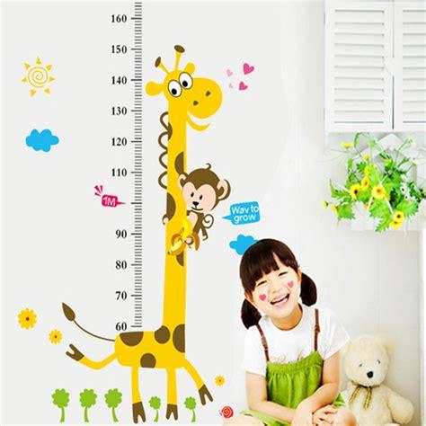 Giraffe Ruler Wall Sticker giraffe height ruler wall sticker baby room