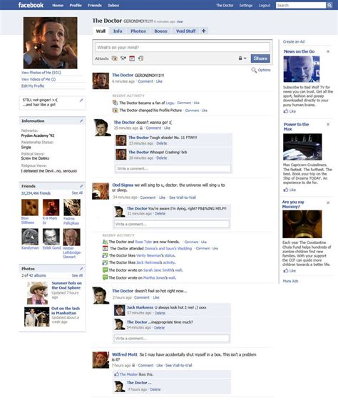 fb page the doctor s facebook page by the hellish gnome on deviantart