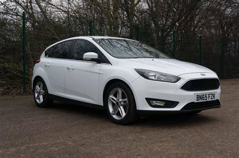 White Ford Focus by Ford Focus Zetec Frozen White 2015 In Stockport