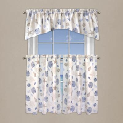 seashell kitchen curtains buy seashell window curtains from bed bath beyond
