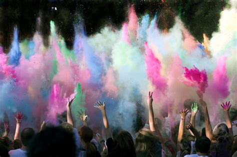 color war powder color war on