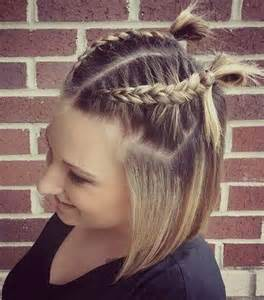 hairstyles with half of in braids 20 stylish low maintenance haircuts and hairstyles