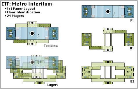 game level design layout capture the flag level metro interitum matheus pitillo