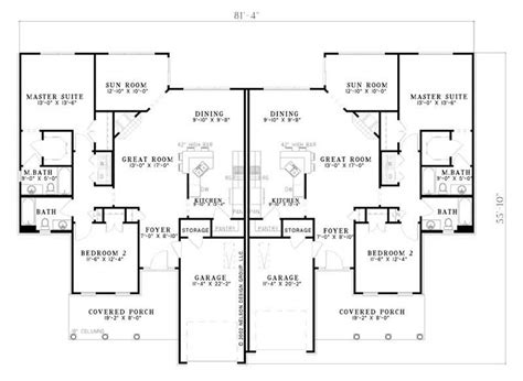 multi unit house plans multi unit house plans home design ndg 659 7777