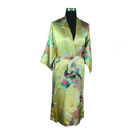 popular peacocks dressing gown buy cheap peacocks dressing popular satin robe buy cheap satin robe lots