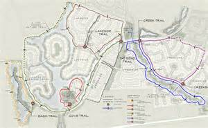 map of fulshear cross creek ranch community amenities hike bike